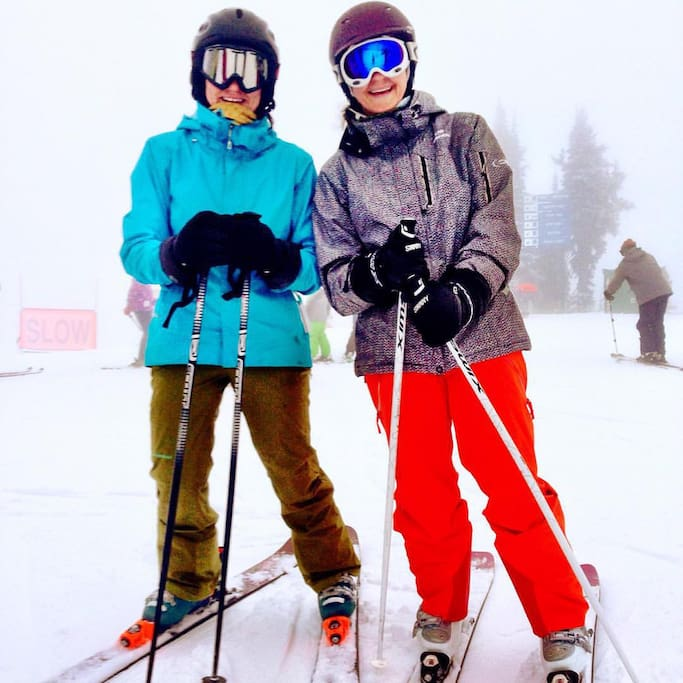 Sisters, business partners and ski-buddies: Lynon & Kirtlye.