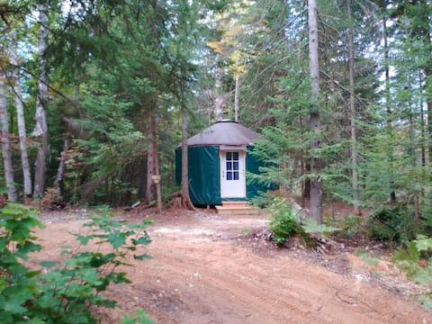 Great Lakes Yurt Camp: Kingfisher Yurt