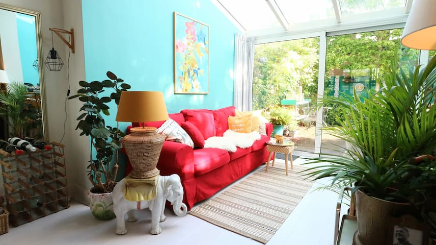 Nice and bright lounge area at the conservatory