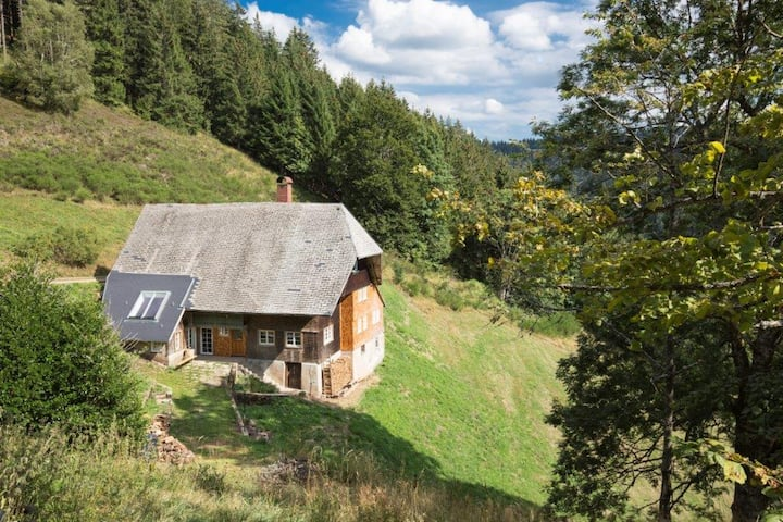 Fewo Kaspershäusle im Schwarzwaldhof Kaspershäusle: Alleinlage im Wald, renoviertes Denkmal, Wlan