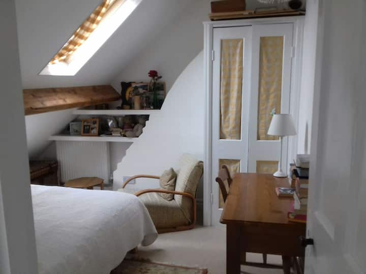 Bedroom in converted loft with double bed