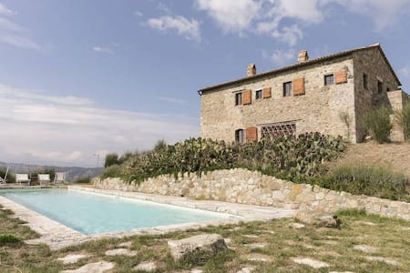 Farmhouse with panoramic view in the hills - Ristonchia - Vila