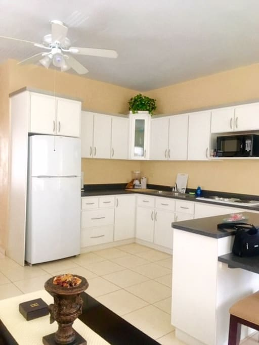 Las Delicias 718-564-0000 - Road PR-110 kilometer 29.3 Fully stacked kitchen: assorted pots, cutting board, silverware, cups, drinking glasses, coffee maker, microwave, wine cork-opener, paper towel, dish washing liquid and much more!