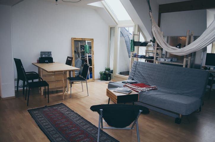 Zentrales Studio mit Blick über Ilmenau