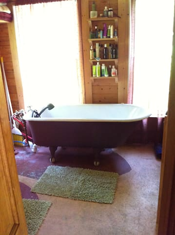 There is nothing like a good soak in the claw foot tub!