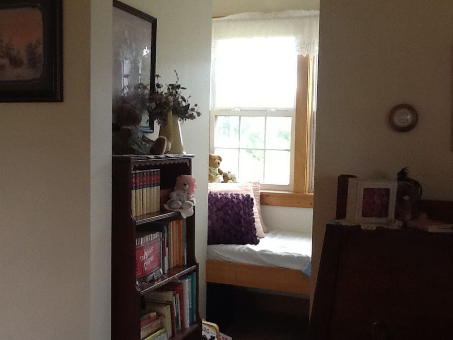 Our lovely inviting window seat nook.