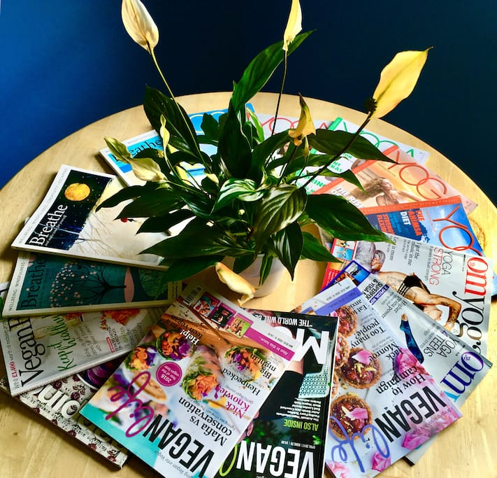 Magazines available during your stay