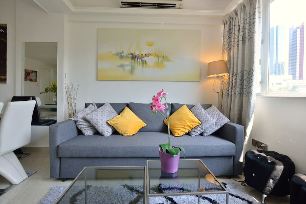 Have a chit chat with your family or friends here in our cozy living room!
