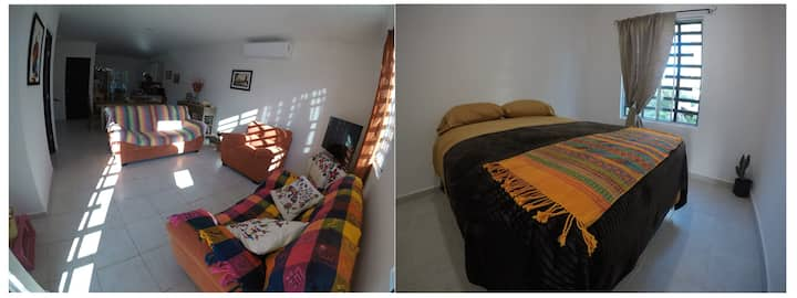 Mangrove Room, Townhouse near Puerto Morelos Beach