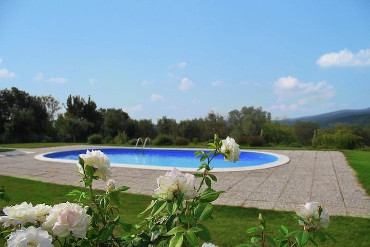 Luxury air conditioned villa with private pool on large grounds with terrace