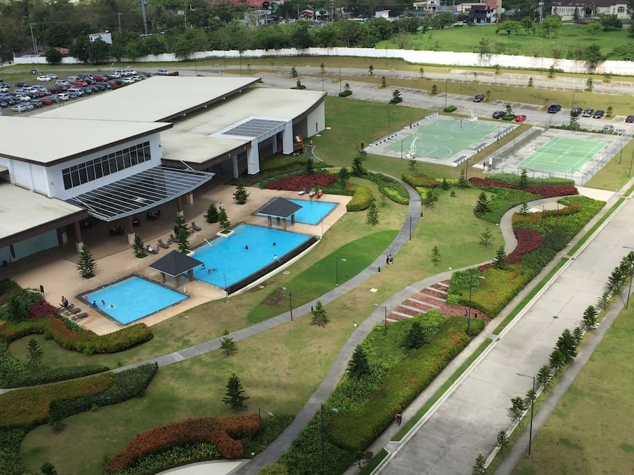 Access to clubhouse facilities' indoor and outdoor pool, basketball court and tennis courts.
