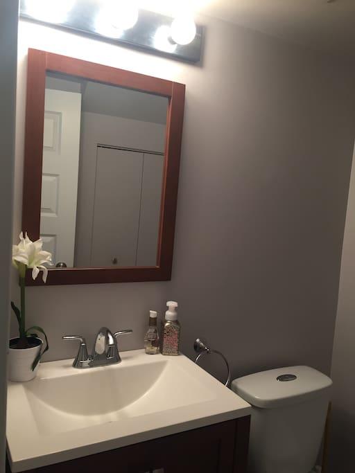 Half bathroom.