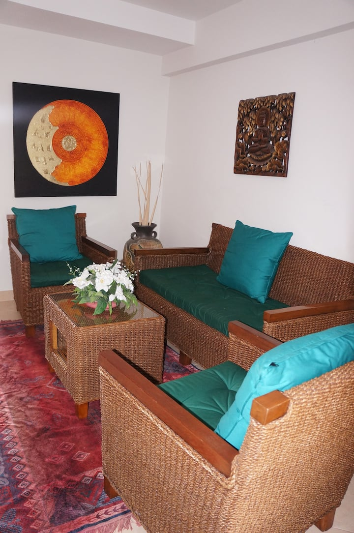 Tropical Beach family apartment 4 people