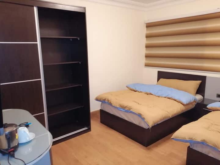 Rayyan Hills apartment; two queen size beds