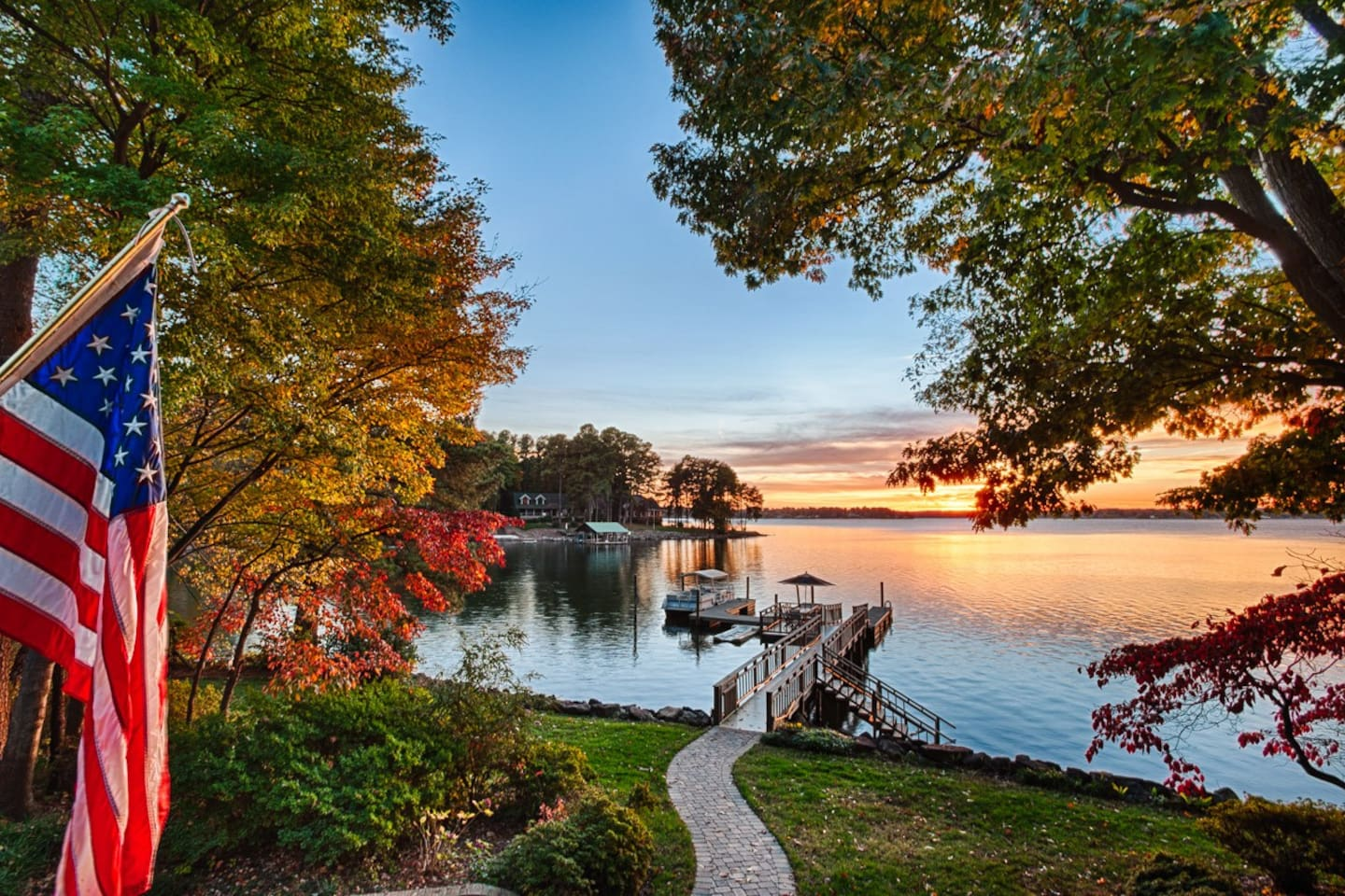 Elevate your North Carolina retreat with this stunning custom lake home in Mooresville.
