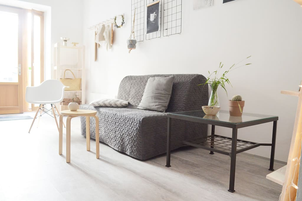 Stylish studio with terrace in Žižkov just a few steps from city centre