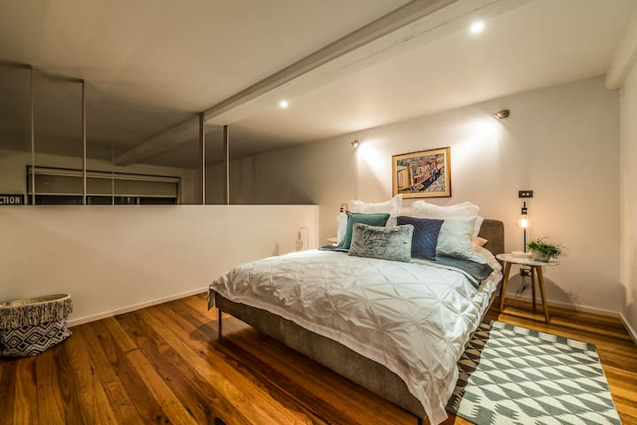 Master bedroom with high quality linen