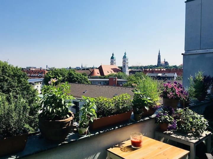 Über den Dächern Münchens