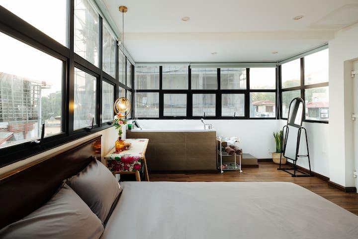 Sky View★Jacuzzi★Romantic place for couple