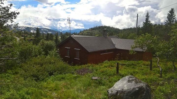Koselig og usjenert hytte, Lifjell, Bø i Telemark