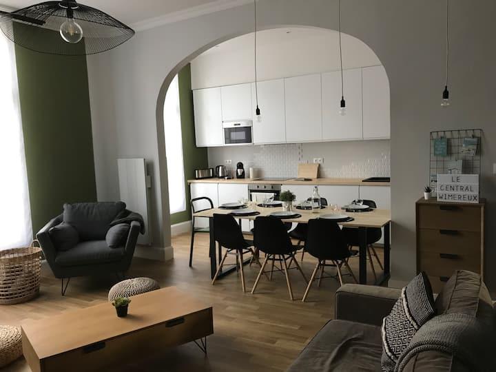 Le Central Wimereux ⭐️⭐️⭐️⭐️⭐️  Family flat