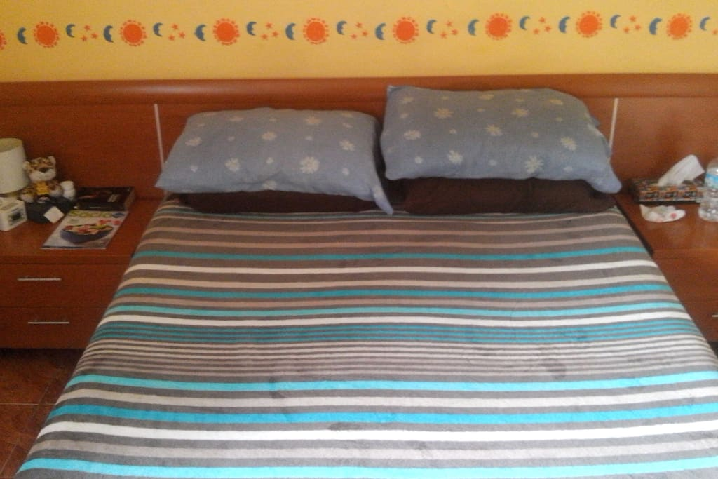The bed on one room