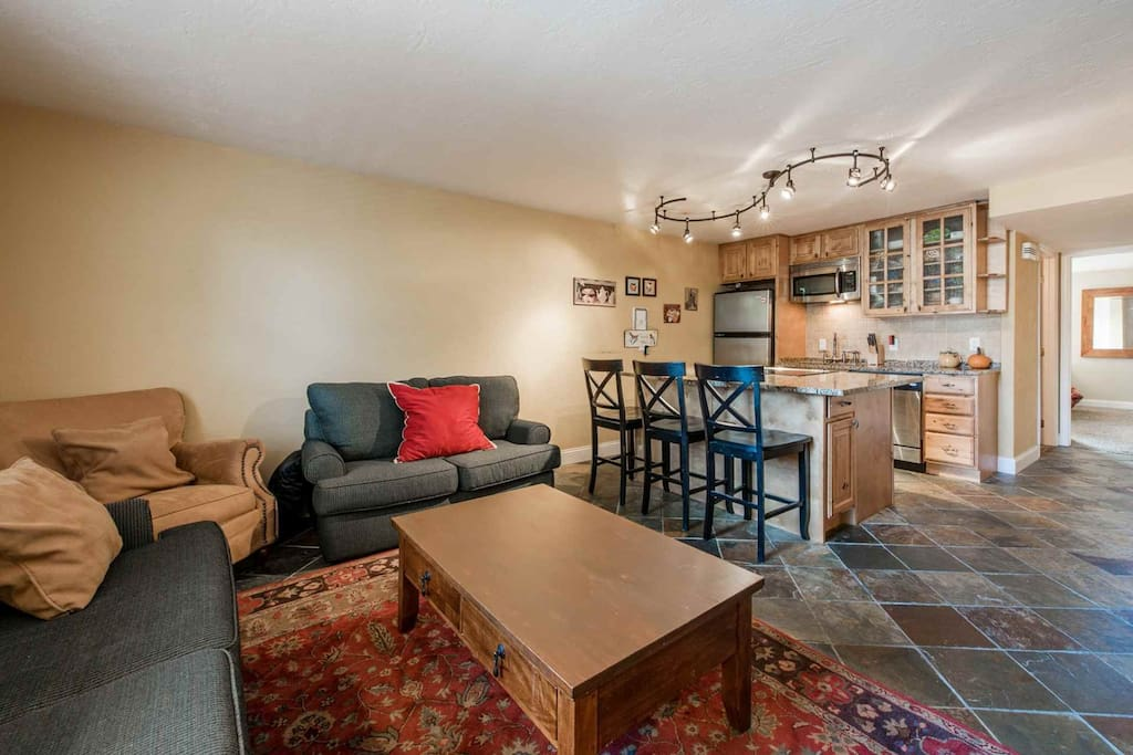 Our place offers the best location in town and is easy walking distance to skiing, Main Street, restaurants, shopping and more.