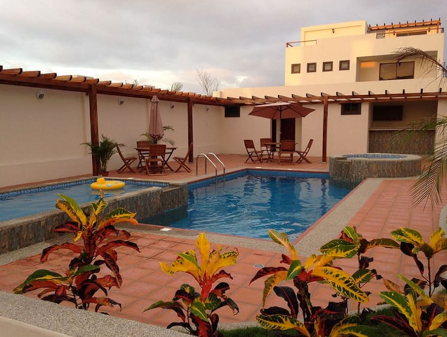 View of pool area that sits directly across from Villa #3