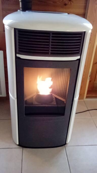 Chaleur du feu en hiver