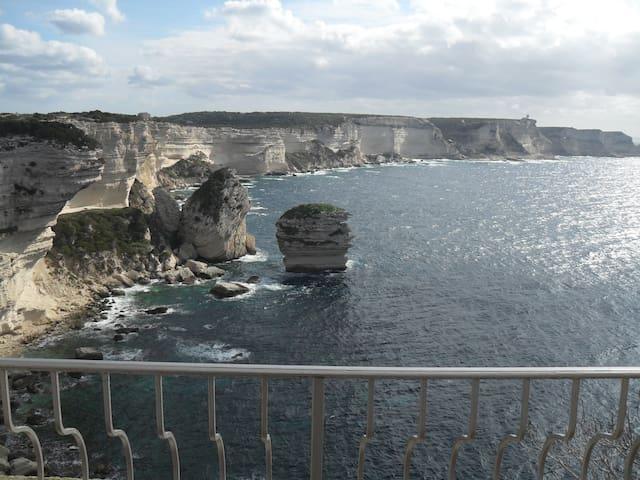Vue falaise de Bonifacio - Bonifacio - Wohnung