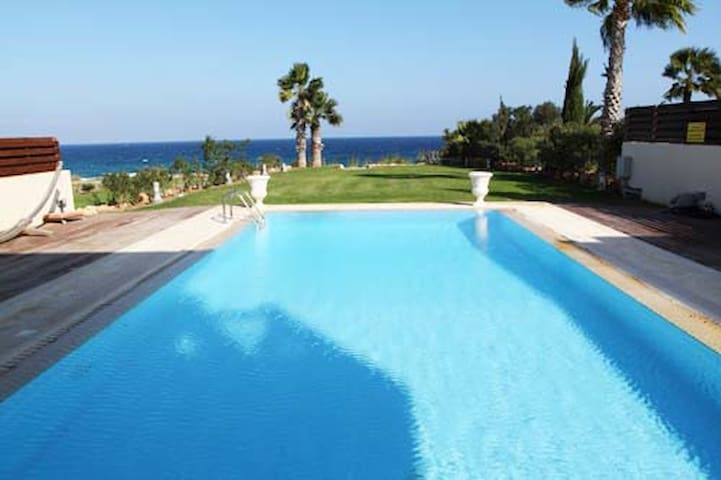 luxury sea front villa , protaras,paralimni