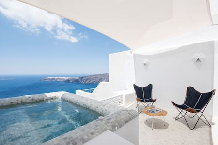 The 'seascape' villa with Jacuzzi - Imerovigli