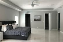 Master bedroom with large walk-in closet