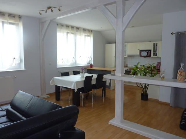 Chambre individuelle dans appartement avec jardin - Jarny - Huoneisto