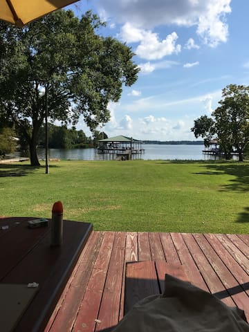 Family Home with a Great Lawn on Cross Lake