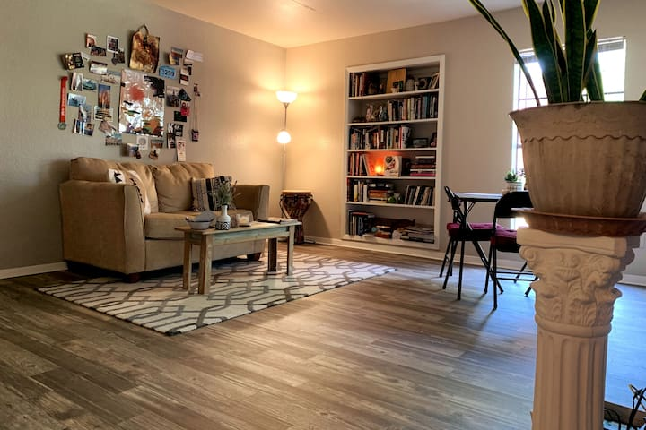 Private 1/1 apartment with sun/art in South Austin