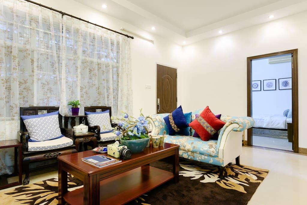 客厅1配有独立空调