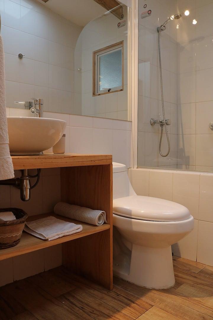 habitacion doble baño privado