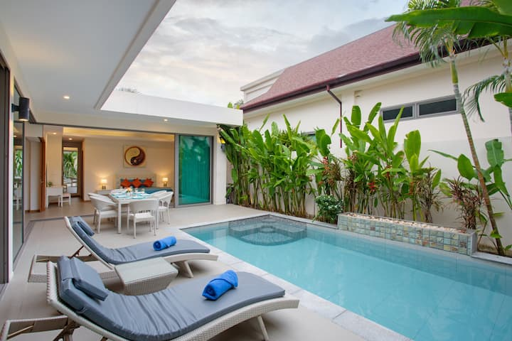 New 2-BR Pool Villa, 200m Rawai Beach, Seafood Mkt