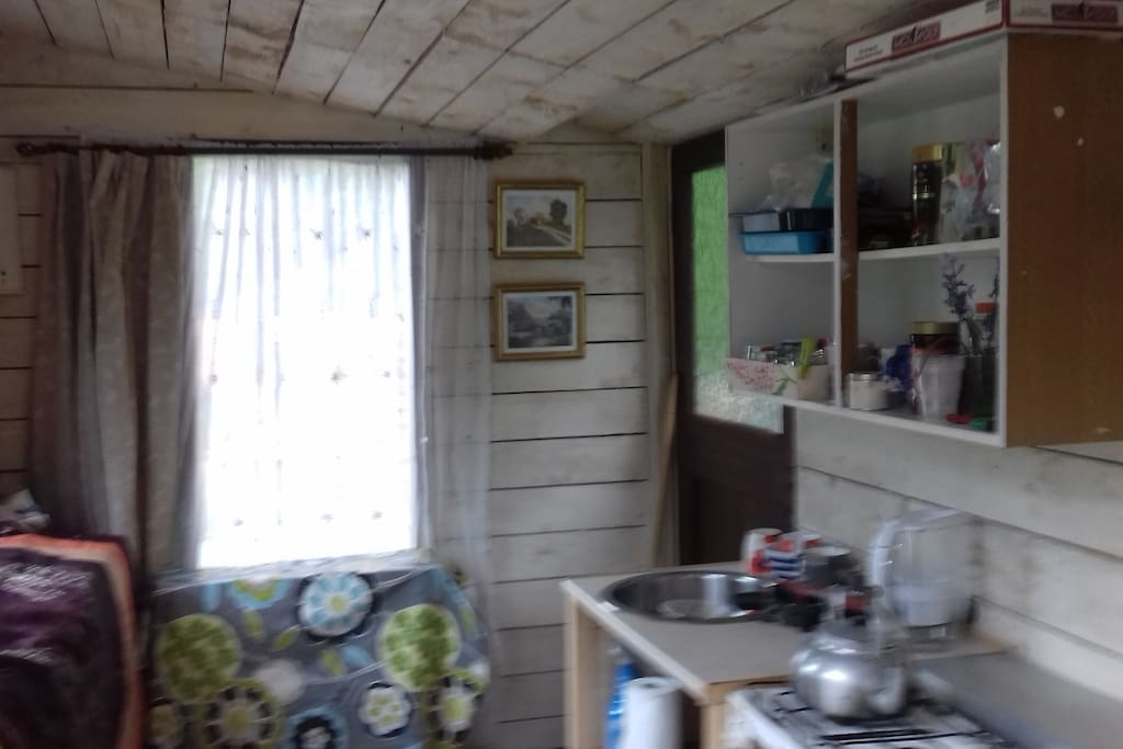Cabin kitchen end