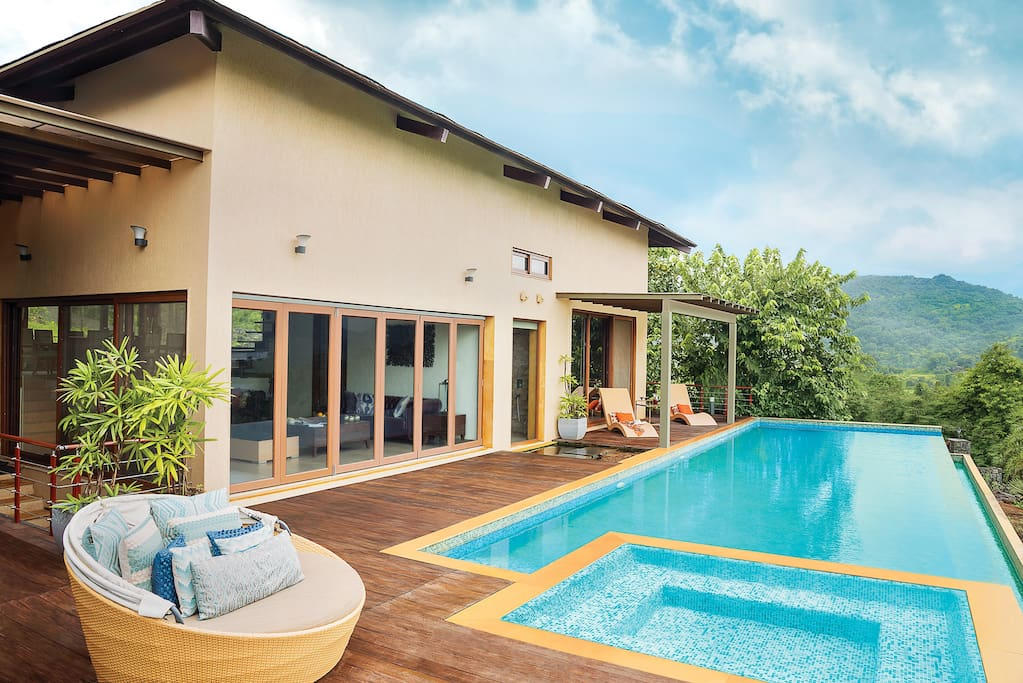 The lower villa with the pool & the jacuzzi. The all time favourite hangout area.