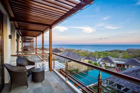 Pemandangan Laut dengan NETFLIX Paanchali Villa di Pandawa