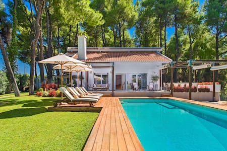 The white villa at sani halkidiki- pool & sea view