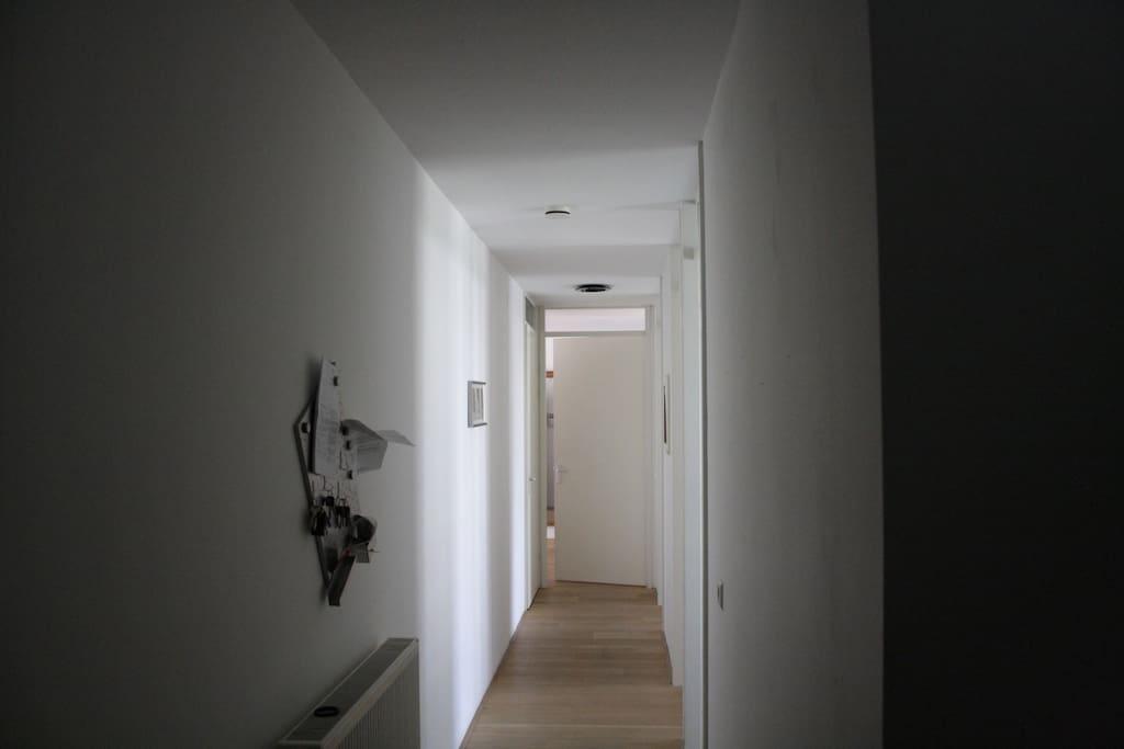 Corridor to the sleeping rooms.