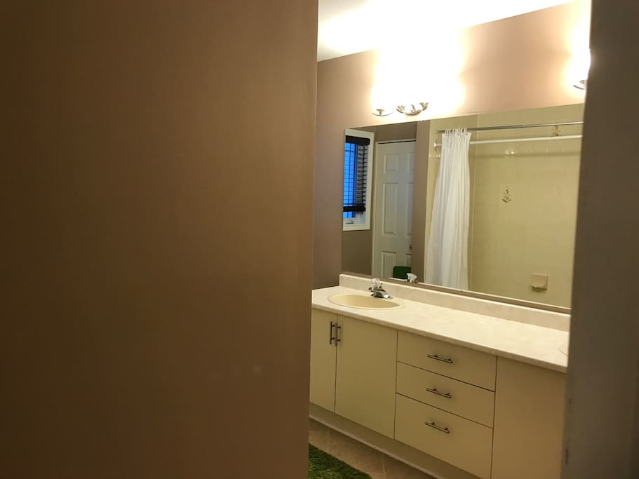 Spacious and private bathroom