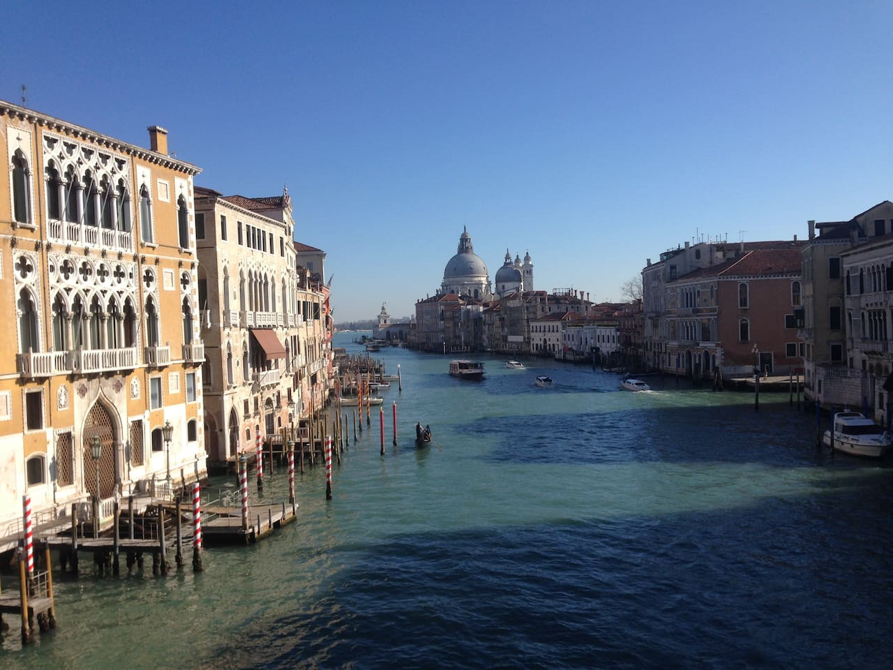 view from the Accademia Bridge