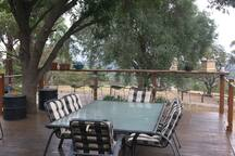 Enjoy a meal or drink on the deck and take in the view or sit back and enjoy the sunset