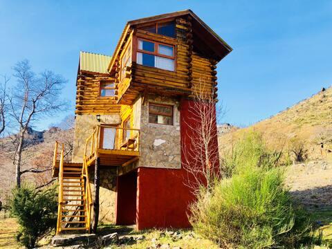 C1 - Cabaña Rincón del Aluminé al lado del Río 6p