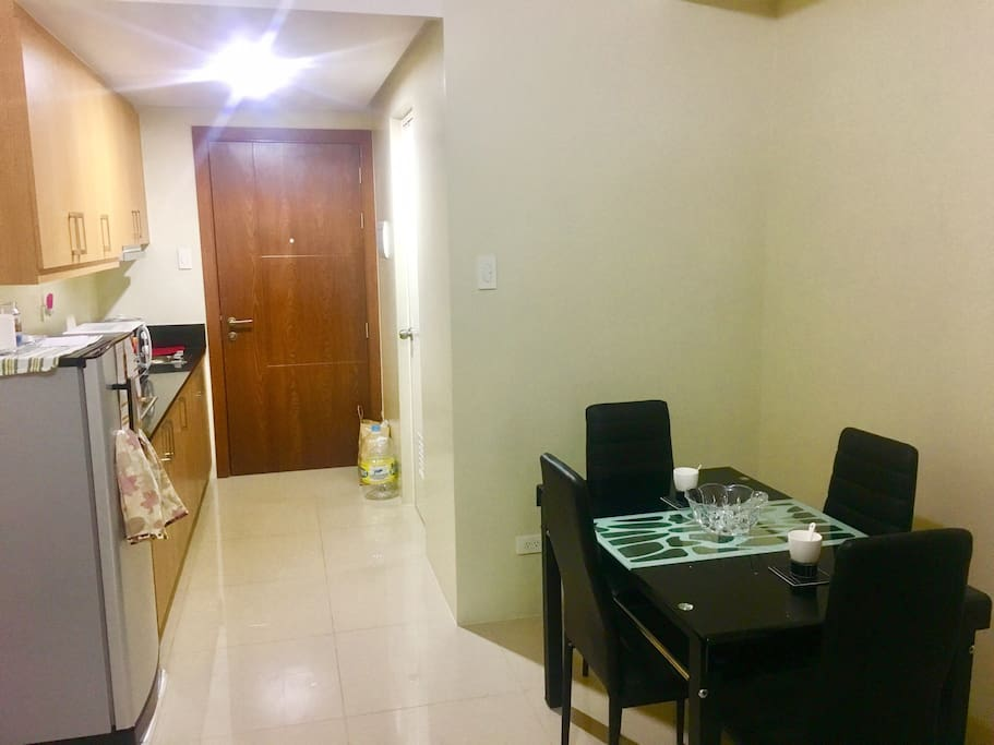 Kitchen and Dinner area..