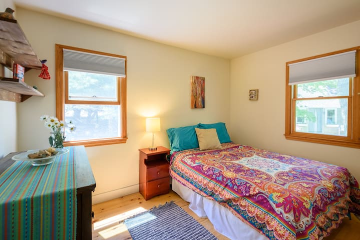 """Bedroom #2. First floor. Full size bed. Smaller than Bedroom #1. """"The Cozy Room."""""""